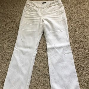 White linen trouser pants LOFT Size 8